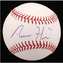 Aaron Hicks Signed OML Baseball (PSA COA)