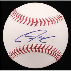 Clint Frazier Signed OML Baseball (PSA COA)