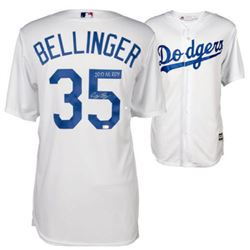 "Cody Bellinger Signed Los Angeles Dodgers Jersey Inscribed ""2017 NL ROY"" (Fanatics Hologram)"