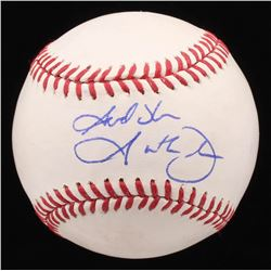 Garth Brooks Signed OML Baseball (PSA COA)