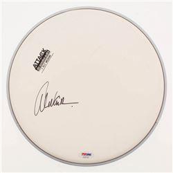 "Alex Van Halen Signed 10"" Drumhead (PSA Hologram)"