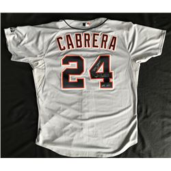 "Miguel Cabrera Signed Detroit Tigers Game-Used Jersey Inscribed ""Triple Crown 2012""  ""Game Used"" (PS"