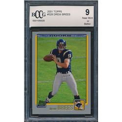 2001 Topps #328 Drew Brees RC (BCCG 9)