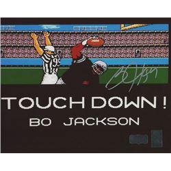 """Bo Jackson Signed """"Tecmo Bowl"""" 8x10 Photo (Radtke COA  Jackson Hologram)"""