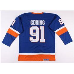 "Butch Goring Signed New York Islanders Jersey Inscribed ""4x SC Champ"" (JSA COA)"