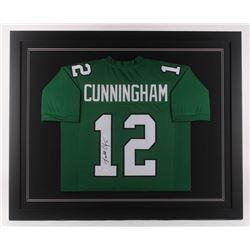 Randall Cunningham Signed Philadelphia Eagles 35.5x43.5 Custom Framed Jersey (JSA COA)