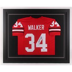 Herschel Walker Signed Georgia Bulldogs 35.5x43.5 Custom Framed Jersey (Beckett COA)