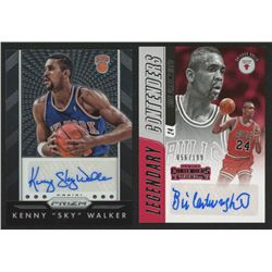 Lot of (2) Basketball Cards with 2015-16 Panini Prizm Autographs #55 Kenny Walker  2018-19 Panini Co