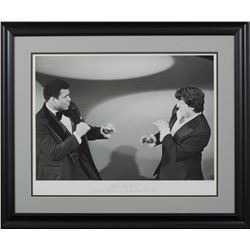 """Sylvester Stallone  Muhammad Ali LE """"Sly  'The Champ'"""" 24x29 Custom Framed Hulton Archive Giclee Dis"""