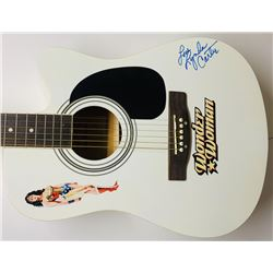 "Lynda Carter Signed ""Wonder Woman"" Acoustic Guitar Inscribed ""Love"" (JSA COA)"
