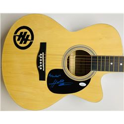 """Hunter Hayes Signed Acoustic Guitar Inscribed """"Wanted"""" (JSA COA)"""