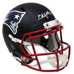 Stephon Gilmore Signed New England Patriots Custom Matte Black Speed Full-Size Helmet (Sports Integr