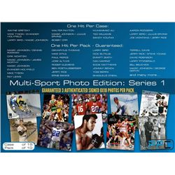Press Pass Collectibles Mystery Box - (3) Autographed Multi-Sport 8x10 Photo Edition Series 1