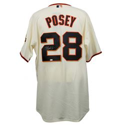 Buster Posey Signed Majestic San Francisco Giants Jersey (MLB Hologram)