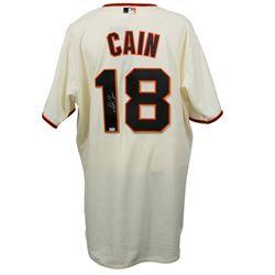 Matt Cain Signed Majestic San Francisco Giants Jersey (MLB Hologram)