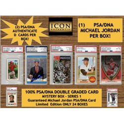 ICON AUTHENTIC 100% ALL PSA/DNA (DOUBLE CARD BOX) MYSTERY BOX SERIES 1 (Guaranteed Michael Jordan PS