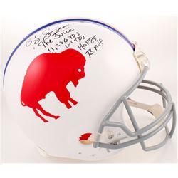 O. J. Simpson Signed Buffalo Bills Full-Size Authentic On-Field Helmet with Multiple Inscriptions (J
