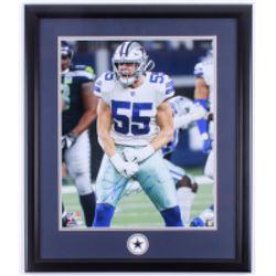 Leighton Vander Esch Signed Dallas Cowboys 22.5x26.5 Custom Framed Photo Display (JSA Hologram)