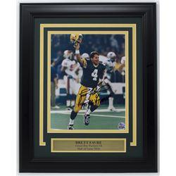 "Brett Favre Signed Green Bay Packers 11x14 Custom Framed Photo Display Inscribed ""'95, '96, '97 MVP"""