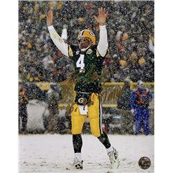 """Brett Favre Signed Green Bay Packers 8x10 Photo Inscribed """"'95, '96, '97 MVP"""" (Favre COA)"""
