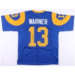 Kurt Warner Signed St. Louis Rams Jersey (Beckett COA)
