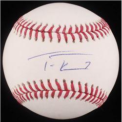 Trea Turner Signed OML Baseball (JSA COA)