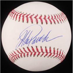 Jorge Posada Signed OML Baseball (JSA COA)