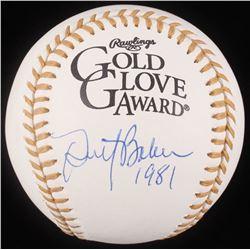 "Dusty Baker Signed Gold Glove Award Baseball Inscribed ""1981"" (JSA COA)"