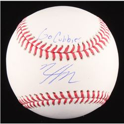 """Nico Hoerner Signed OML Baseball Inscribed """"Go Cubbies"""" (PSA COA)"""