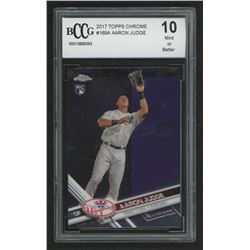 2017 Topps Chrome #169A Aaron Judge RC (BCCG 10)
