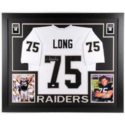 Howie Long Signed Oakland Raiders 35x43 Custom Framed Jersey (JSA COA)