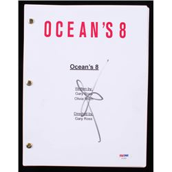 "Sarah Paulson Signed ""Oceans's 8"" Full Script (PSA COA)"