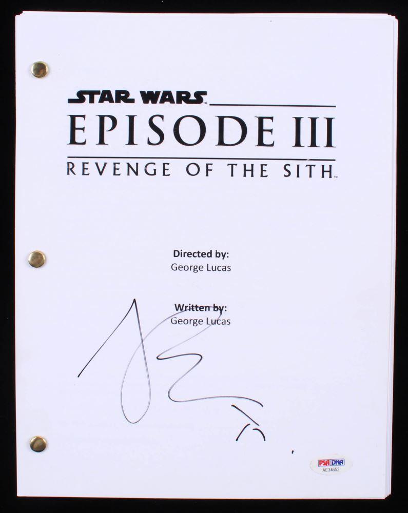 Joel Edgerton Signed Star Wars Episode Iii Revenge Of The Sith Full Script Psa Coa