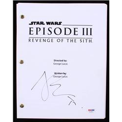 """Joel Edgerton Signed """"Star Wars: Episode III-Revenge of the Sith"""" Full Script (PSA COA)"""