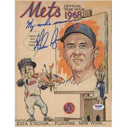 "Nolan Ryan Signed New York Mets 1968 Yearbook Inscribed ""My Rookie Year"" (PSA COA)"