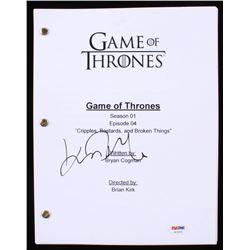 """John Bradley Signed """"Game of Thrones: Cripples, Bastards,  Broken Things"""" Full Episode Script (PSA C"""
