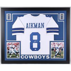 Troy Aikman Signed Dallas Cowboys 35x43 Custom Framed Jersey (JSA COA)