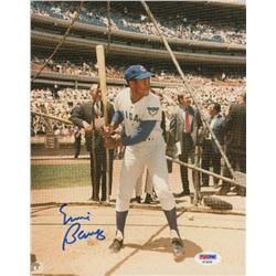 Ernie Banks Signed Chicago Cubs 8x10 Photo (PSA COA)