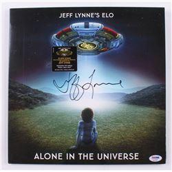 "Jeff Lynne Signed ""Alone In The Universe"" Vinyl Record Album (PSA Hologram)"