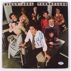 """Billy Joel Signed """"Turnstiles"""" Vinyl Record Album (PSA COA)"""