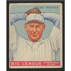 1933 Goudey #73 Jesse Haines RC
