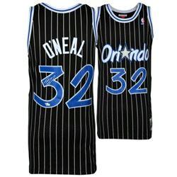 Shaquille O'Neal Signed Mitchell  Ness 1994-95 Pinstripe Orlando Magic Jersey (Fanatics Hologram)