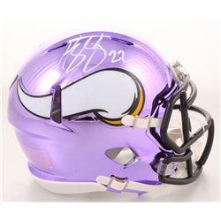 Harrison Smith Signed Minnesota Vikings Chrome Speed Mini Helmet (TSE COA)