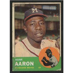 1963 Topps #390 Hank Aaron