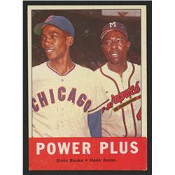 1963 Topps #242 Power Plus / Ernie Banks / Hank Aaron