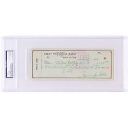 Ty Cobb Signed 1955 Personal Bank Check (PSA Encapsulated)