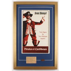 "Disney's ""Pirates of the Caribbean"" New Orleans Square 17x26 Custom Framed Print Display with Vintag"