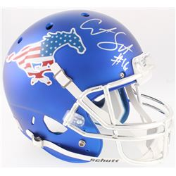 Courtland Sutton Signed SMU Mustangs Full-Size Helmet (JSA COA)