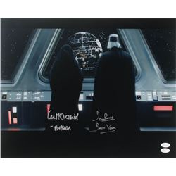 "Ian McDiarmid  David Prowse Signed ""Star Wars"" 16x20 Photo Inscribed ""- Emperor""  ""Darth Vader"" (JSA"