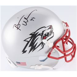 Brian Urlacher Signed New Mexico Lobos Mini Helmet (JSA COA)